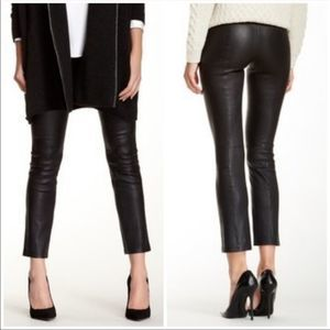 Vince. 100% real leather leggings size small